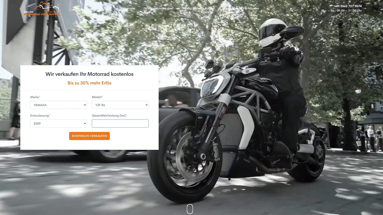 Online Motorrad Verkaufen